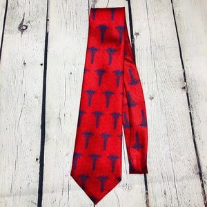 Doctor Medical Profession Tie Red and Blue